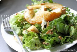 Pear and Goat Cheese Salad with Toasted Almonds