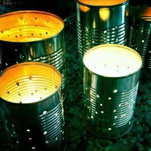 Starlight Tin Can Lanterns