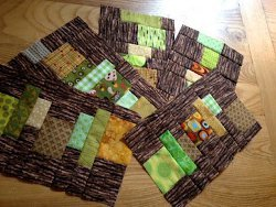 Staggered Strips Scrap Quilt Blocks