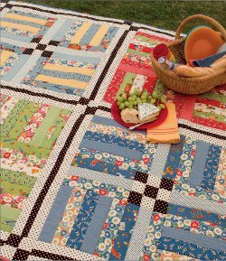 Rail Fence Picnic Blanket
