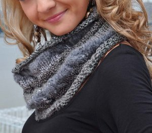 Chic Gray Cowl