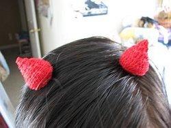 Devil Horn Hair Clips