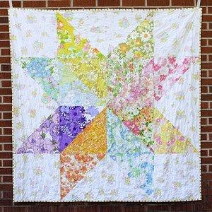 Giant Vintage Starflower Quilt