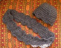 Scalloped Hat and Wrap Around Cowl