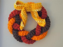 Crocheted Autumn Wreath