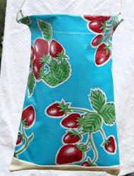 Oilcloth Peg Bag
