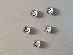 Marble Snowman Magnets