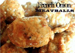 French Onion Meatballs