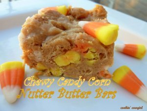 Candy Corn Nutter Butter Cookie Bars