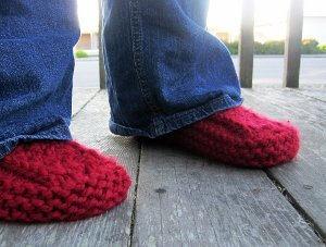 Cranberry Slipper Boots