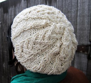 Slouchy Snow White Hat