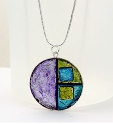 Faux Dichroic Glass Pendant