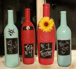 Decorative Painted Wine Bottle