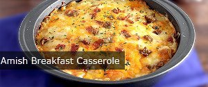 Amish Breakfast Casserole with Potatoes and Sausage