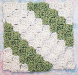 Diagonal Box Stitch Square