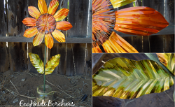 Embossed Aluminum Sunflower