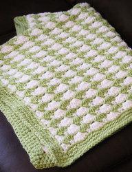 Green Seashell Stitch Baby Blanket