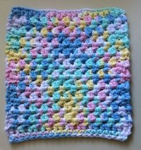 Cotton Candy Dishcloth