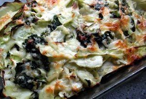 Kale and Cabbage Bake