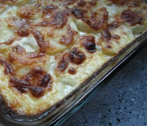 Red Onion Potato Gratin