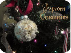 Popcorn Ball Ornaments