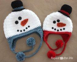 Cozy Snowman Hat