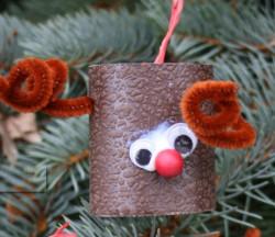 Toilet Paper Roll Reindeer Ornaments
