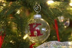 Painted Initial Ornament