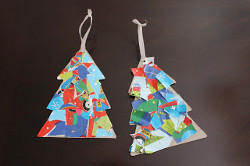 Wrapping Paper Collage Ornament