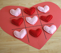 Heart Tic Tac Toe Board
