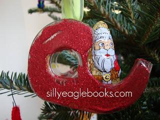 Santa's Sleigh Tape Dispenser Ornament