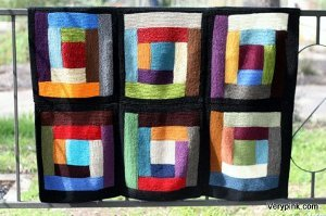 Bold and Beautiful Scrap Afghan