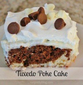 Tuxedo Poke Cake