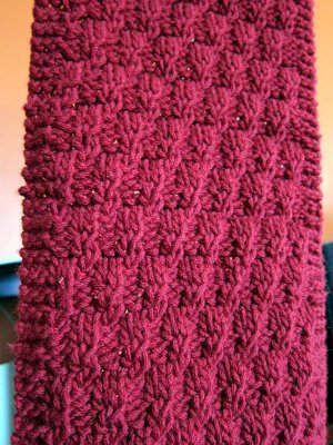 Free Knitting Patterns For Scarves For Beginners : Easy Textured Scarf AllFreeKnitting.com