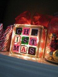 Light Up Christmas Block