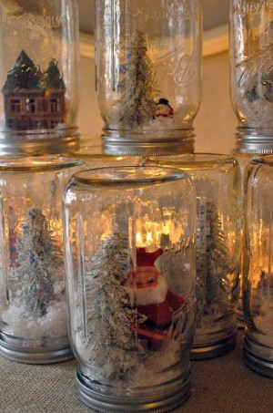 Simple Mason Jar Snow Globe