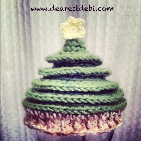 Newborn Christmas Tree Crochet Hat
