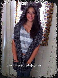 Snow Bear Hooded Scarf