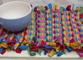 Recycled Sleeve Placemat Weave