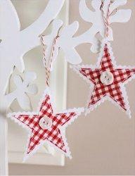 Hanging Gingham Stars