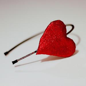 Shimmer Heart Headband