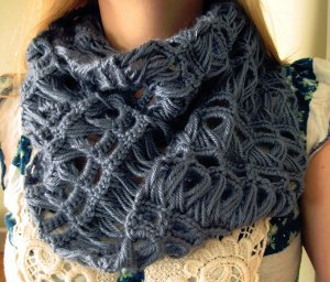 Infinity Broomstick Lace Scarf