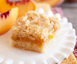 5 Star Peach Crumb Bars