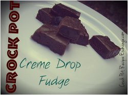 Slow Cooker Creme Drop Fudge