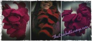 Raspberry Truffle Ruffle Scarf