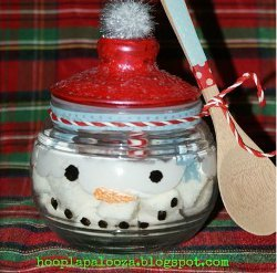 ImageSnowman Christmas Jar Craft