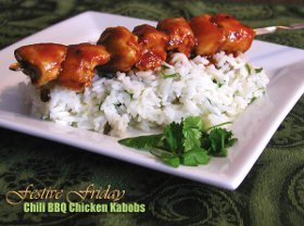 Chili BBQ Chicken Kabobs