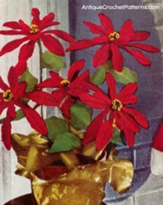 Crocheted Poinsettia