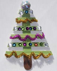 Modern Popsicle Stick Christmas Tree