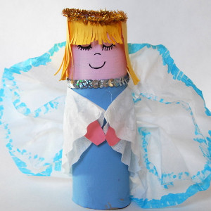Recycled Roll Christmas Angel